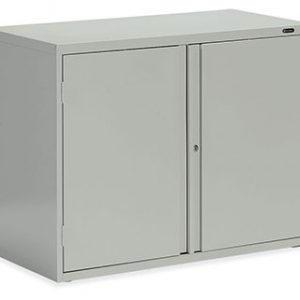 Storage Cabinet - Looped full pull, one fixed centre shelf
