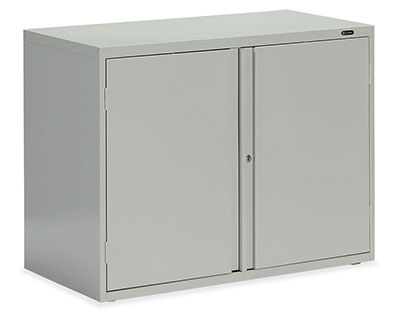 Storage Cabinet - Looped full pull, one fixed centre shelf Owen Sound Furniture