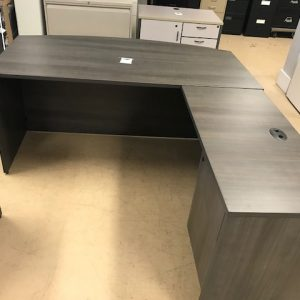 L-Shape Bowfront Desk Owen Sound Furniture